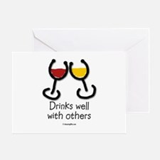Cute Food and drink humor Greeting Card