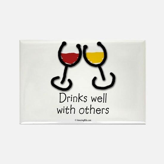 Unique Wine humor Rectangle Magnet
