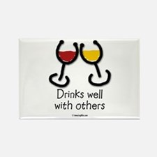 Cute Wine humor Rectangle Magnet (100 pack)