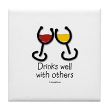 Cute Food humor Tile Coaster