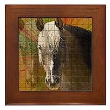 Rocky Mountain Horse Framed Tile Coaster