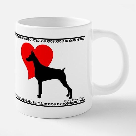 DobeLovemug.png 20 oz Ceramic Mega Mug