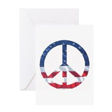 Patriotic Peace Sign: Greeting Card