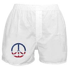Patriotic Peace Sign: Boxer Shorts