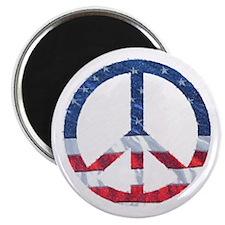 Patriotic Peace Sign: Magnet