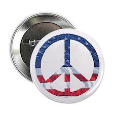 "Patriotic Peace Sign: 2.25"" Button"
