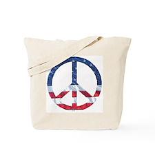 Patriotic Peace Sign: Tote Bag