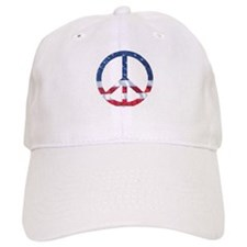 Patriotic Peace Sign: Baseball Cap