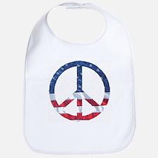 Patriotic Peace Sign: Bib