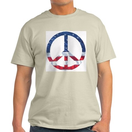 Patriotic Peace Sign: Light T-Shirt