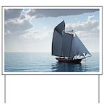 Sailing On a Boat Yard Sign