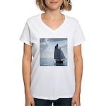Sailing On a Boat Women's V-Neck T-Shirt