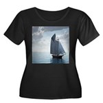 Sailing On a Boat Women's Plus Size Scoop Neck Dar