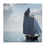 Sailing On a Boat Tile Coaster