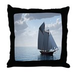 Sailing On a Boat Throw Pillow