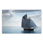 Sailing On a Boat Rectangle Sticker 10 pk)