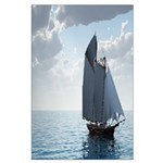 Sailing On a Boat Large Poster