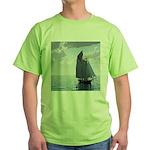 Sailing On a Boat Green T-Shirt