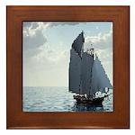 Sailing On a Boat Framed Tile