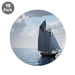 """Sailing On a Boat 3.5"""" Button (10 pack)"""