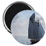 """Sailing On a Boat 2.25"""" Magnet (10 pack)"""