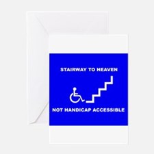 Cute Handicap placard Greeting Card