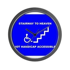 Cute Handicap placard Wall Clock
