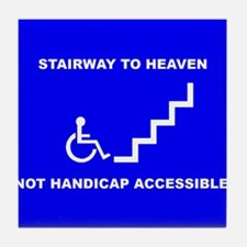 Cute Handicap placard Tile Coaster