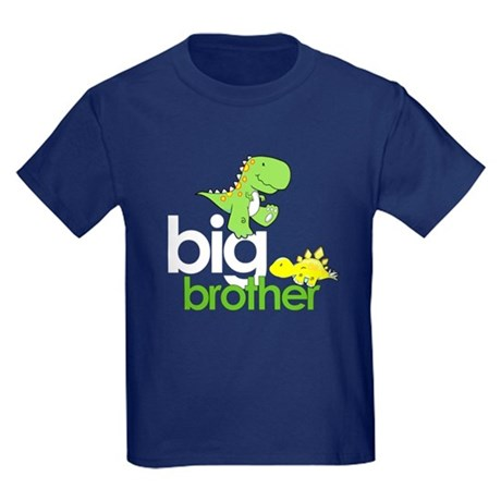 big brother t-shirt dinosaur Kids Dark T-Shirt