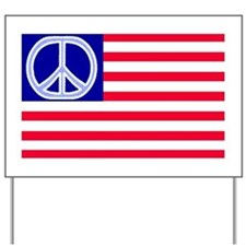 Flag with Peace Sign: Yard Sign