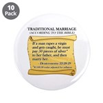 "Traditional Marriage 3.5"" Button (10 pack)"