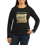 Traditional Marriage Women's Long Sleeve Dark T-Sh