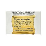 Traditional Marriage Rectangle Magnet