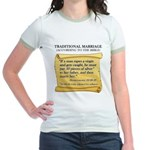 Traditional Marriage Jr. Ringer T-Shirt
