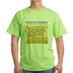 Traditional Marriage Green T-Shirt