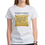 Traditional Marriage Women's T-Shirt