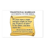 Traditional Marriage Postcards (Package of 8)