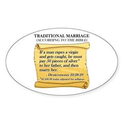 Traditional Marriage Oval Decal