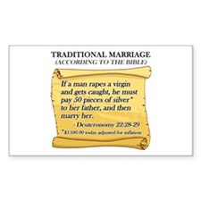 Traditional Marriage Rectangle Decal