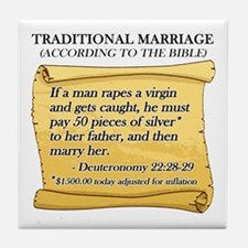 Traditional Marriage Tile Coaster
