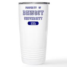 Property of Benoit University Travel Mug