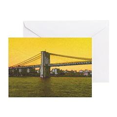 Vintage Brooklyn Bridge Greeting Cards (Pk of 10)