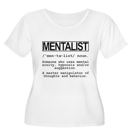 Mentalist Shirts Women's Plus Size Scoop Neck T-Sh