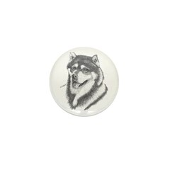 Alaskan Malamute Mini Button (100 pack)