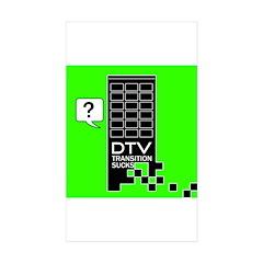 DTV Transition Rectangle Sticker 10 pk)