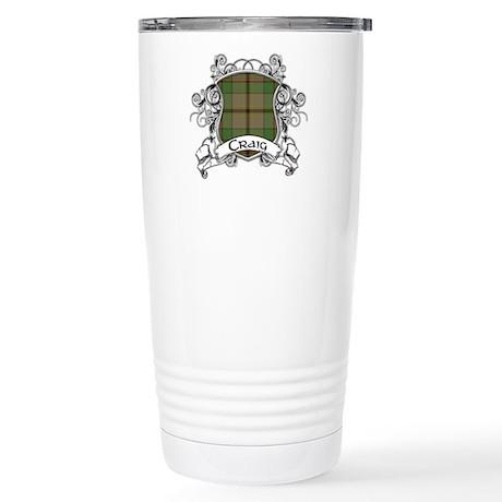 Craig Tartan Shield Stainless Steel Travel Mug
