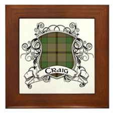 Craig Tartan Shield Framed Tile