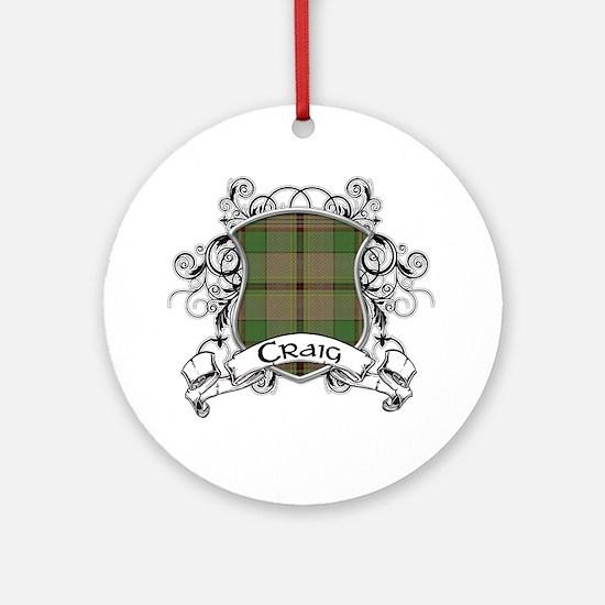 Craig Tartan Shield Ornament (Round)