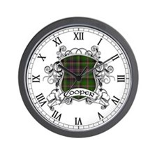 Cooper Tartan Shield Wall Clock