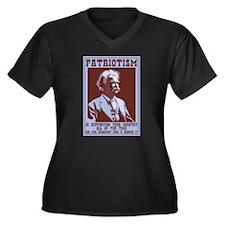 Twain - Patriotism Women's Plus Size V-Neck Dark T